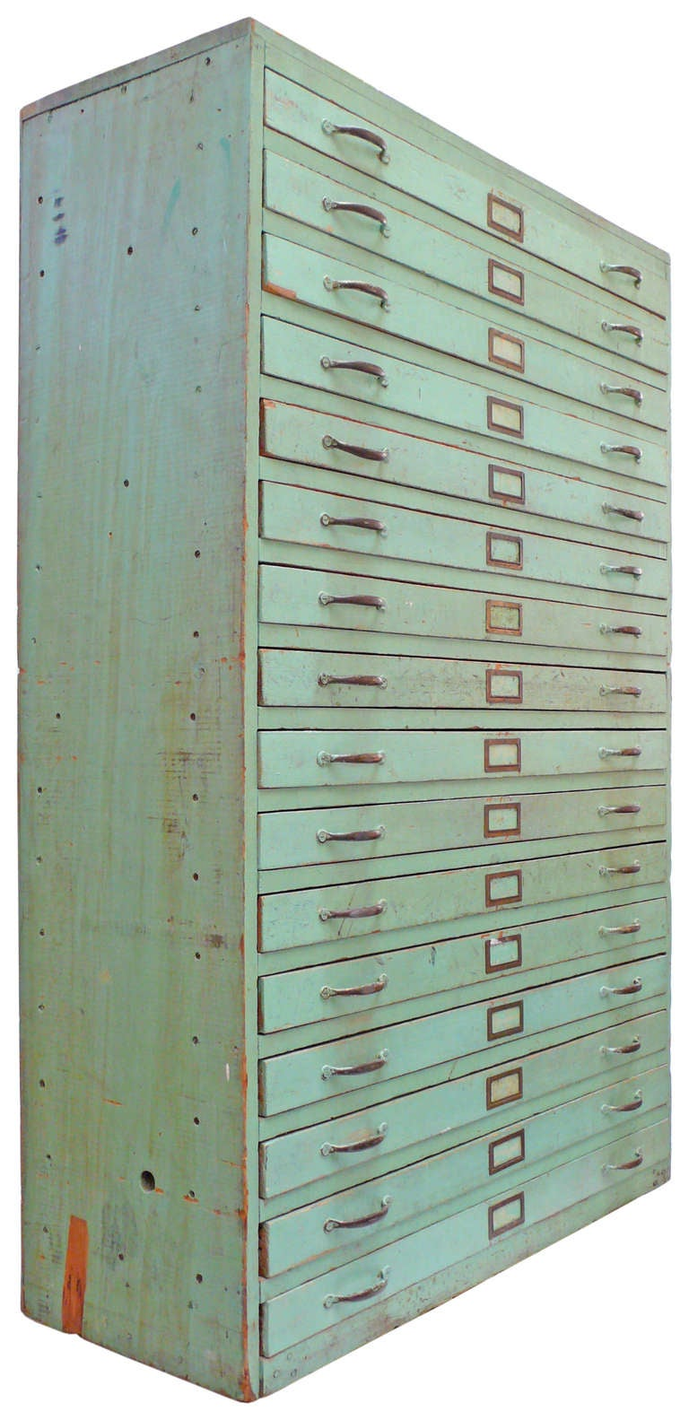 Vintage Green Flat File Storage Cabinet At 1stdibs