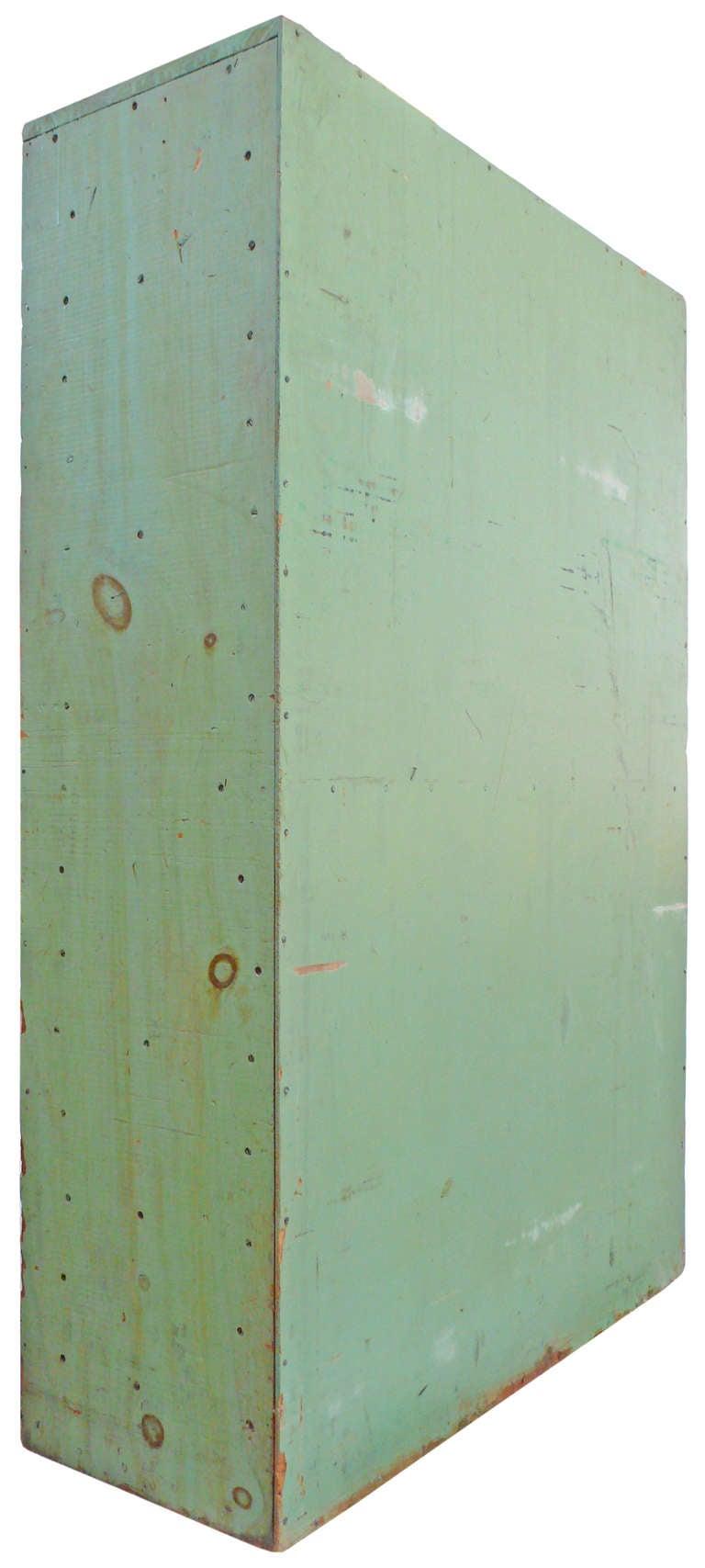 Vintage Green Flat File Storage Cabinet  5