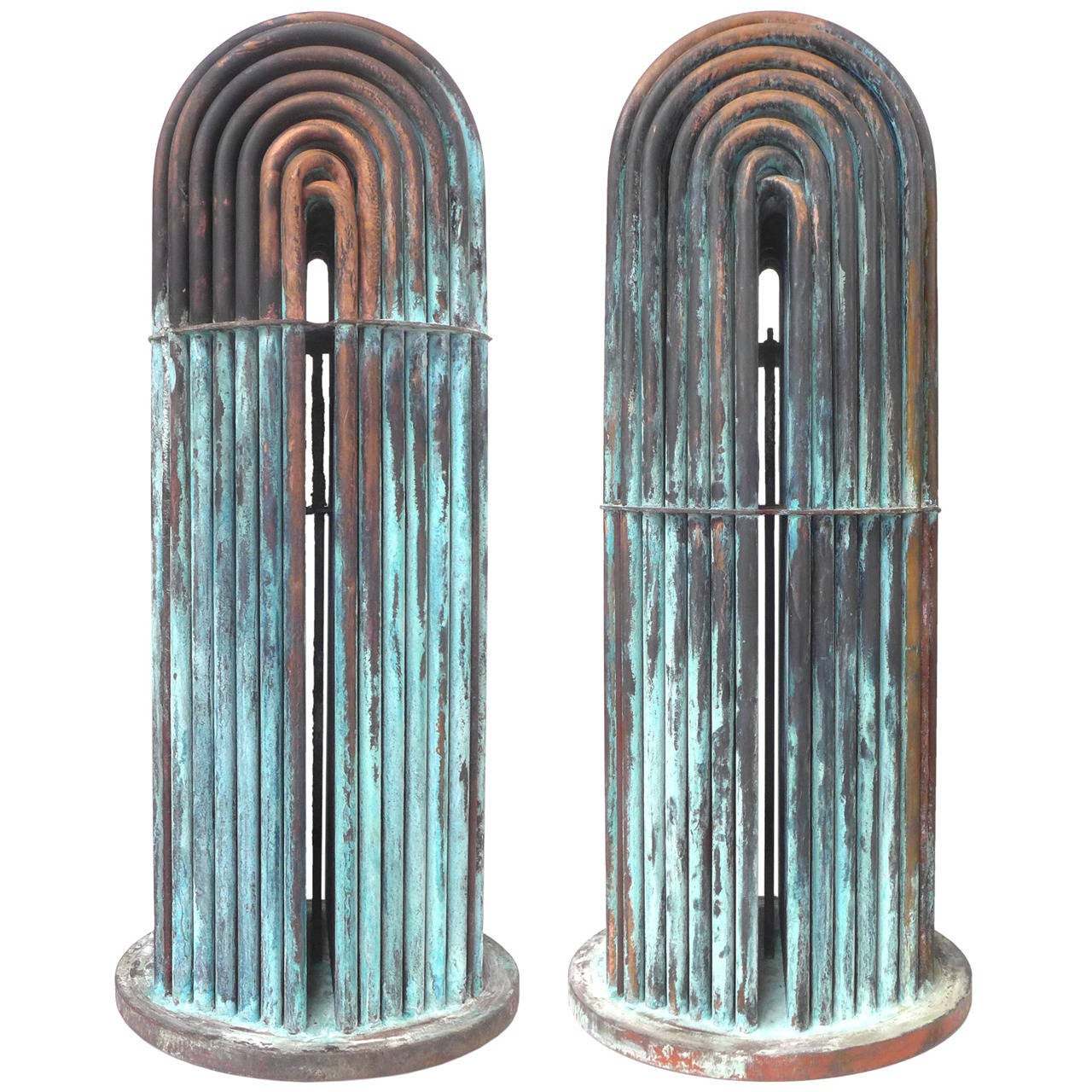 Machine Age Copper Pipe Sculptures For Sale At 1stdibs