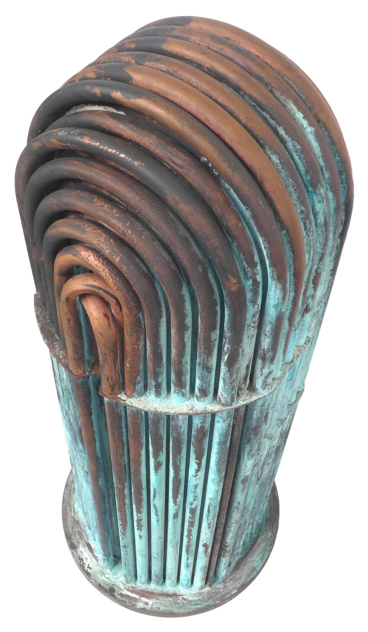Machine Age Copper Pipe Sculptures At 1stdibs