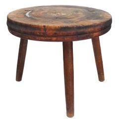 Massive Late 19th Century 3-legged Wooden Work Table