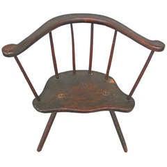 Wonderful 19th Century Primitive 3-Legged Chair
