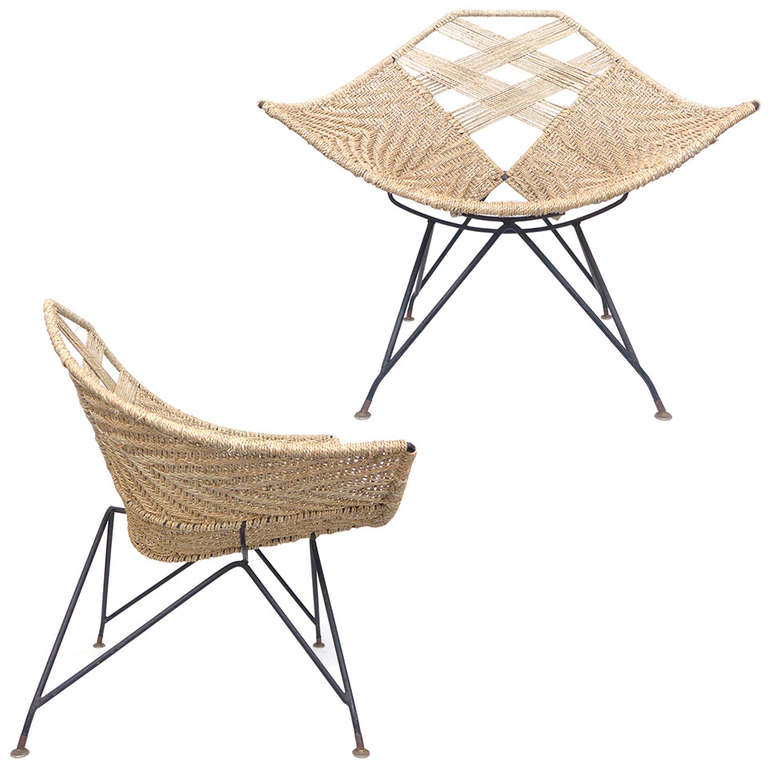 pair of unusual iron u0026 seagrass chairs 1 - Seagrass Chairs
