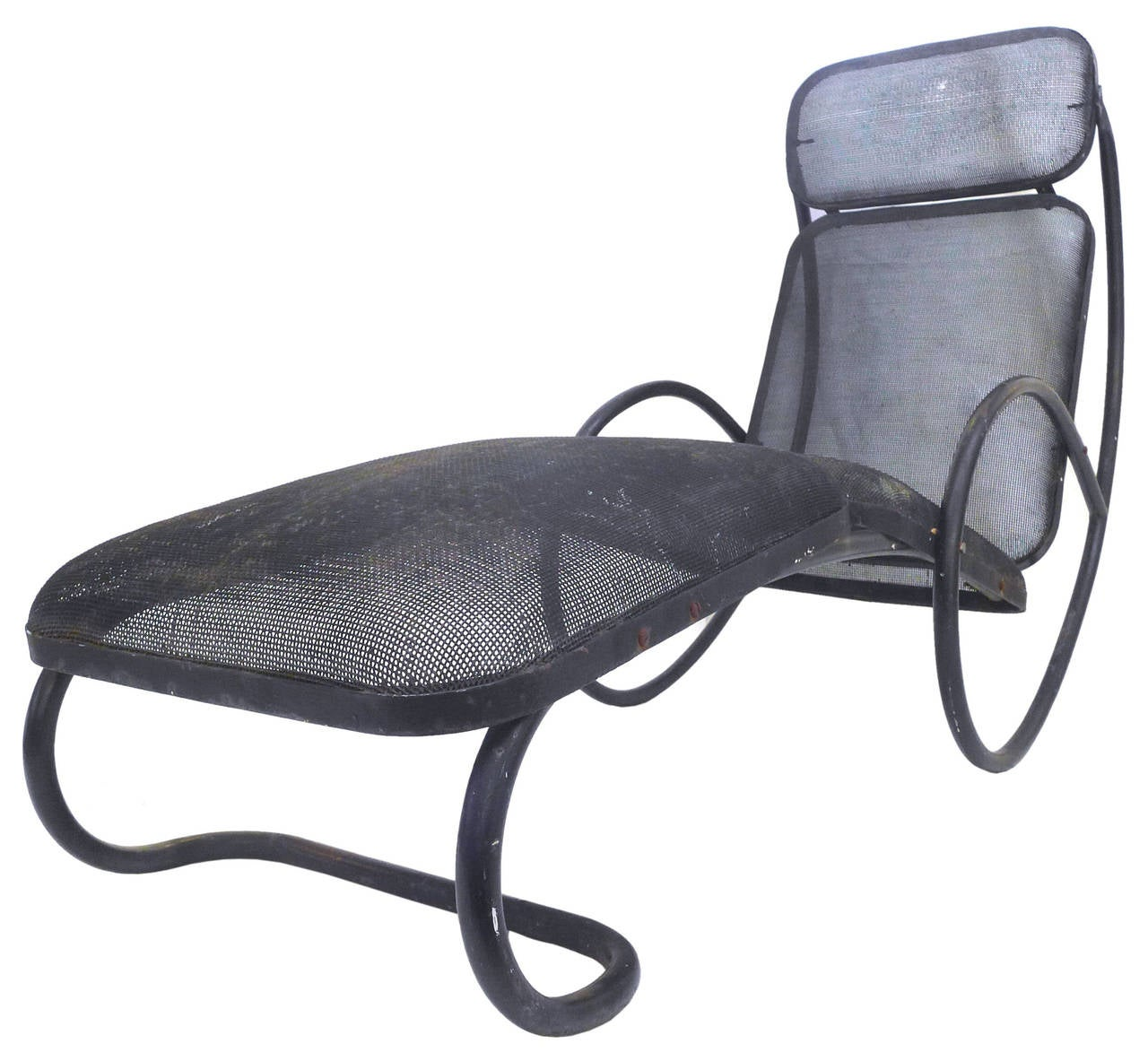 Sculptural Metal Outdoor Lounge Chair at 1stdibs
