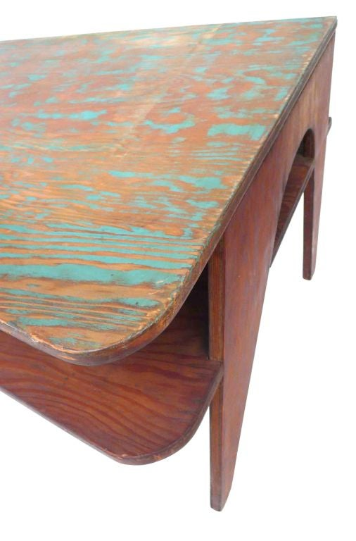 Palm springs modern architectural plywood table at 1stdibs for Palm springs modern furniture