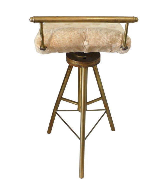 Late Victorian Adjustable 3 Legged Brass Stool At 1stdibs