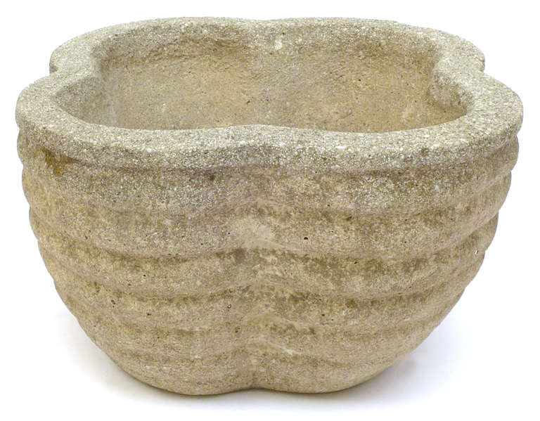 Pair of japanese cast concrete planters at 1stdibs - Casting concrete planters ...