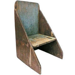 Unusual and Architectural Primitive Wood Chair