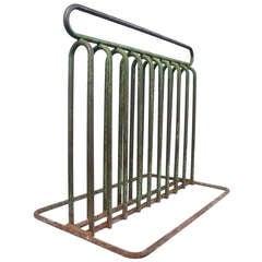 Modernist Tubular-Steel 1930's Bicycle Rack