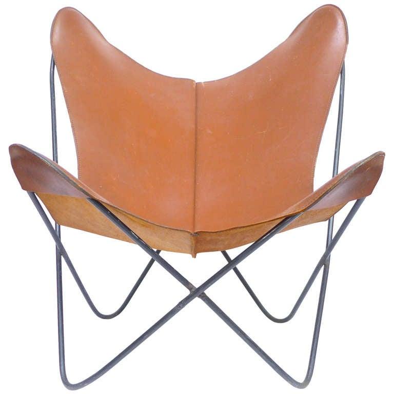 vintage hardoy butterfly chair at 1stdibs. Black Bedroom Furniture Sets. Home Design Ideas