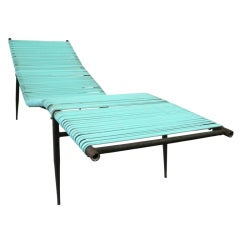 Sculptural Iron Poolside Lounge Chair