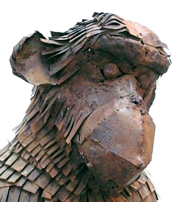 Life-Sized Metal Monkey Sculpture 1