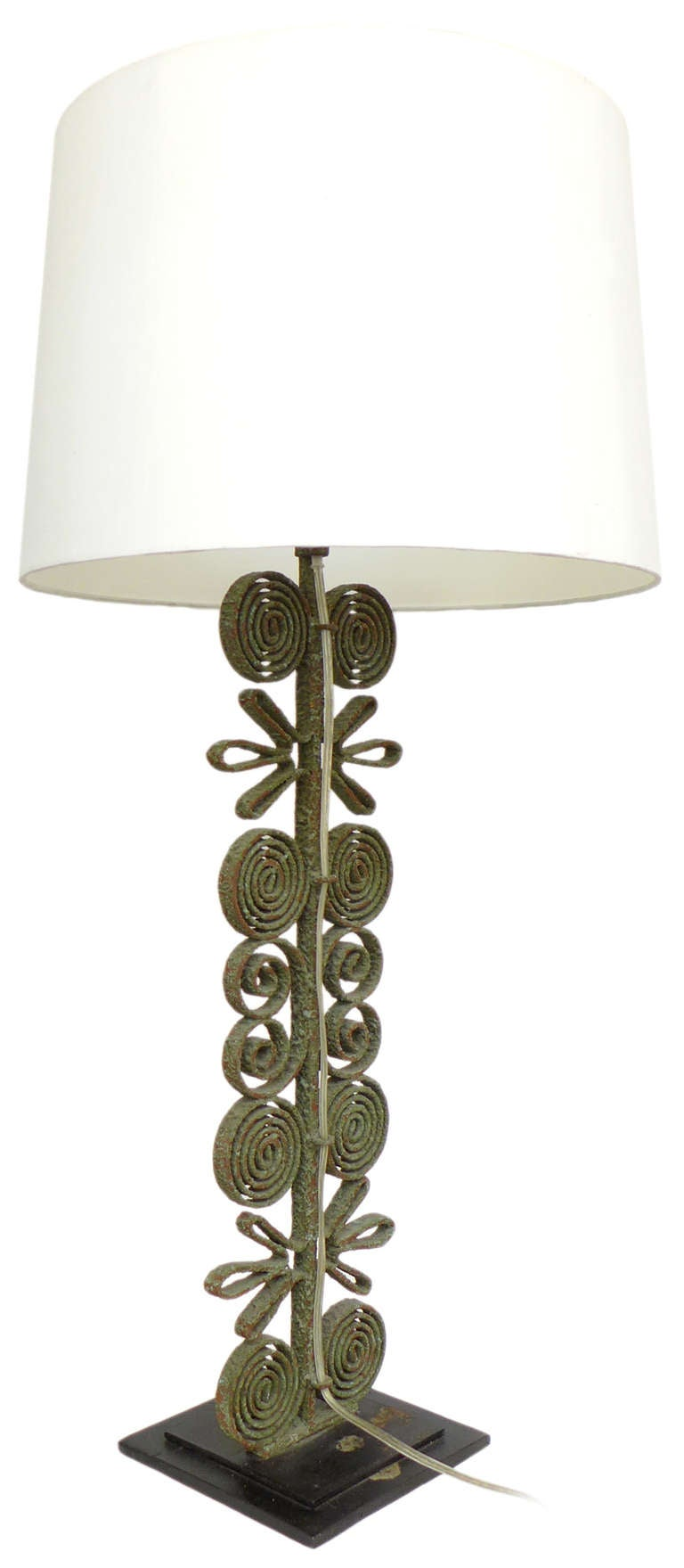 this spectacular wrought iron table lamp is no longer available. Black Bedroom Furniture Sets. Home Design Ideas
