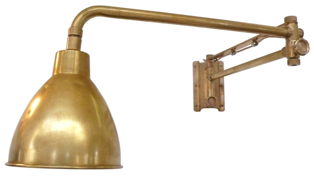 Brass and Bronze Swing-Arm Boat Sconces at 1stdibs