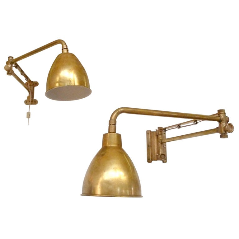 Boat Wall Lights : Brass and Bronze Swing-Arm Boat Sconces at 1stdibs