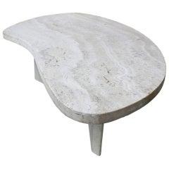 Travertine Biomorphic Coffee Table