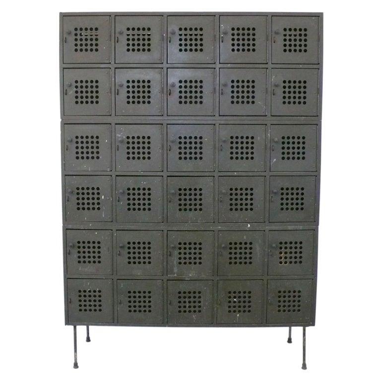 Industrial Locker Cabinet With Perforated Masonite Doors