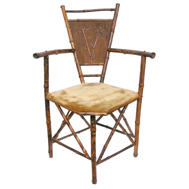 Exceptional Aesthetic Movement Bamboo Chair At 1stdibs