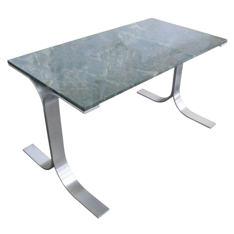Spectacular Green Quartz And Stainless Steel Desk For