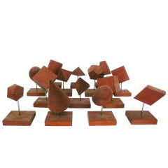 Set of Geometric Wooden Teaching Forms