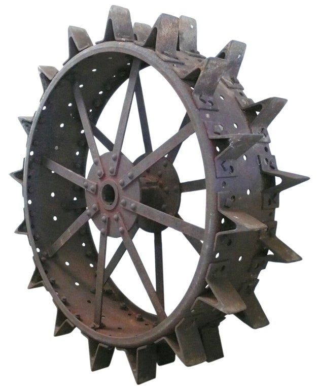 Monstrous And Spectacular Steel Tractor Wheel At 1stdibs