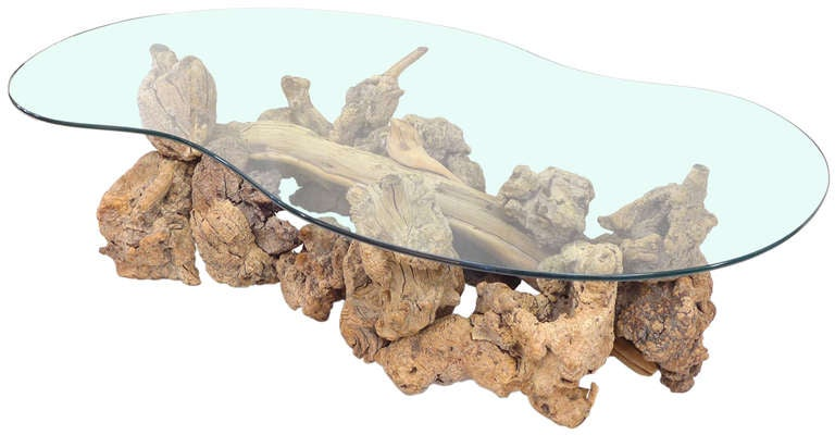 Glass-Top Coffee Table of Drift & Burl Woods 2