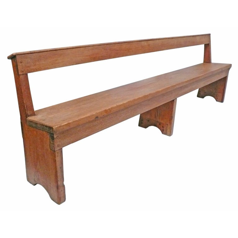 large scale wooden quaker meeting hall bench at 1stdibs