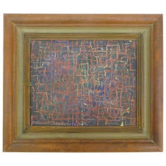 Small Abstract Expressionist Painting by Harold Haydon