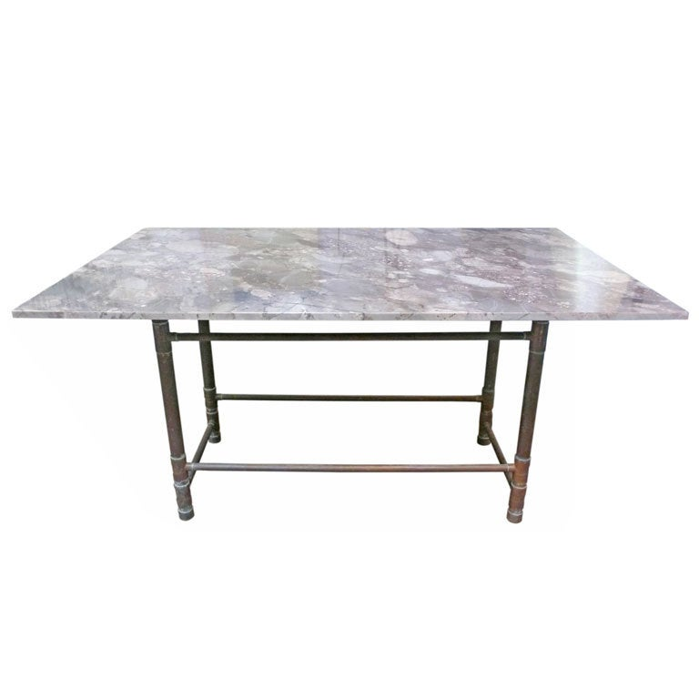 Large Size Of Marble Dining Om Table Restoration Hardware: Unusual Copper And Exotic Granite Dining Table At 1stdibs