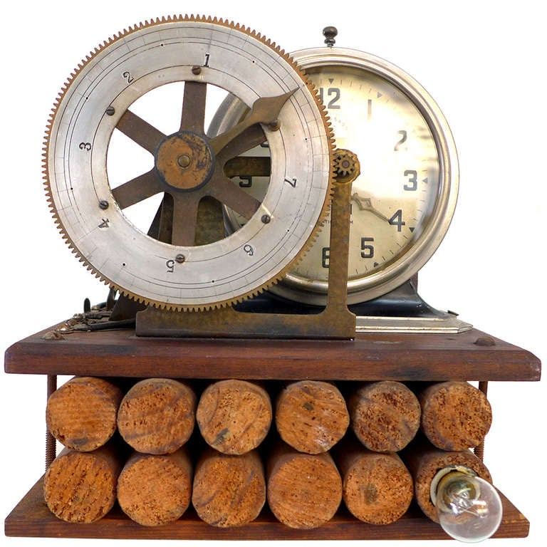 Folk Art Time-Bomb Clock For Sale