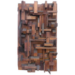 Wall-Hanging Assemblage Sculpture by Jerry L. Pollak