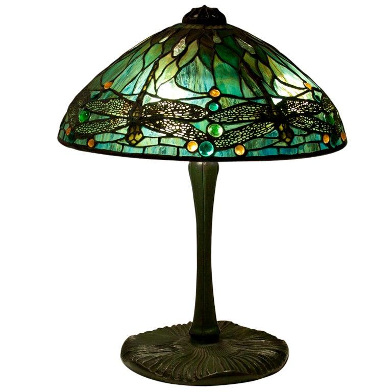 Tiffany Studios Dragonfly Table Lamp At 1stdibs
