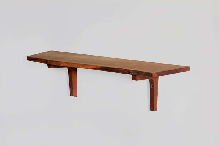 george nakashima live edge wall shelf for sale at 1stdibs. Black Bedroom Furniture Sets. Home Design Ideas