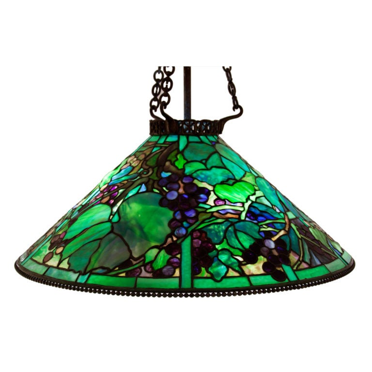 Rare Tiffany Studios Grape Chandelier At 1stdibs