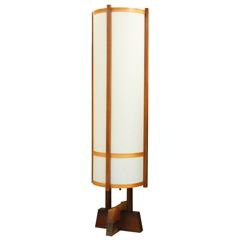 George Nakashima Kent Hall Floor Lamp At 1stdibs
