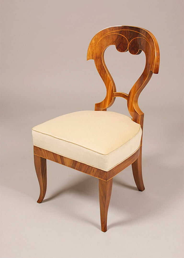 Biedermeier side chairs with a fourth addition for sale at for Side chairs for sale