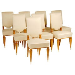 art deco dining chairs by batistin spade