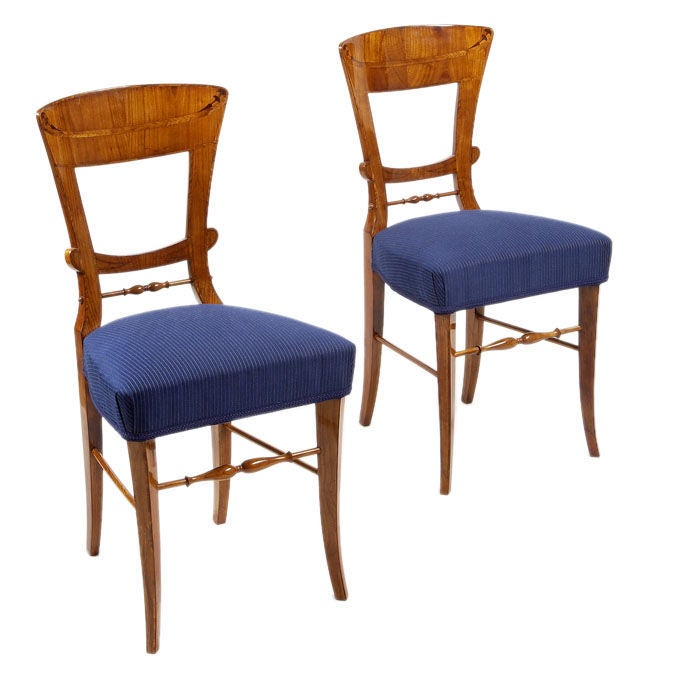 A Pair Of Biedermeier Side Chairs At 1stdibs