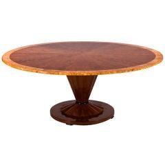 Biedermeier Inspired Pedestal Table by Iliad Design