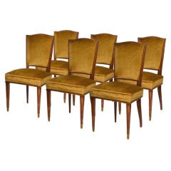 Art Deco Dining Chairs by Dominique