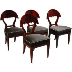 Suit of Four Important Biedermeier Side Chairs