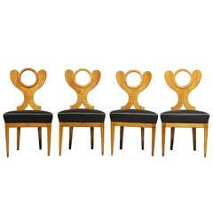 Biedermeier Side Chairs Attributed to Josef Danhauser