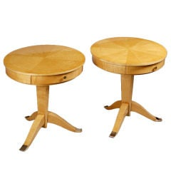 A pair of Art Deco tables by Jules Leleu