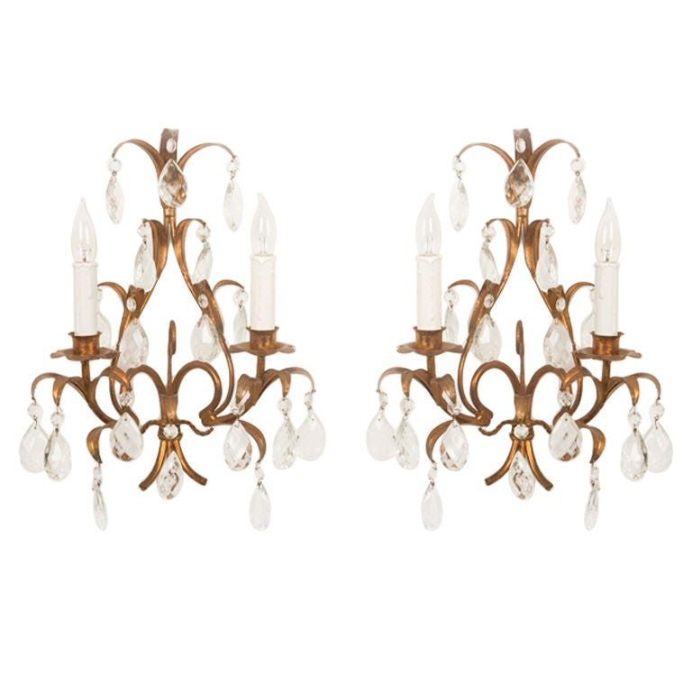 A pair of mid century italian wall sconces at 1stdibs for 14 wall street 20th floor new york new york 10005