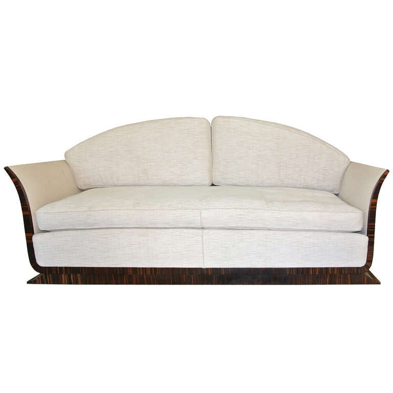 Art Deco Sofa By Albert Fournier At 1stdibs