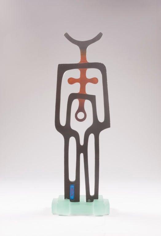 """""""Minotaur"""" Glass Sculpture by Istvan Czebe, 2007 2"""