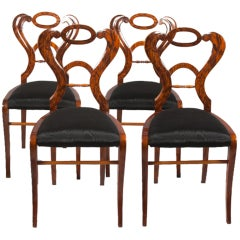Biedermeier Walnut Side Chairs