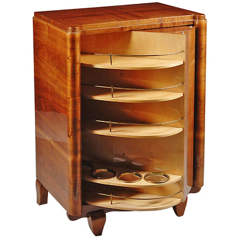 An Art Deco Convertible Bar Bookcase At 1stdibs