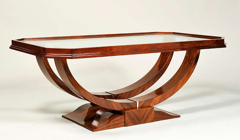 Art deco style coffee table by iliad design at 1stdibs - Table de nuit art deco ...