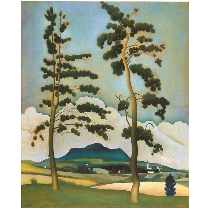 Landscape by barna basilides at 1stdibs for 123 william street 3rd floor new york ny 10038
